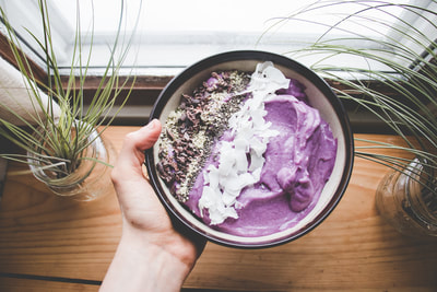 The Local Sprout Purple Yam and Coconut Smoothie Bowl Recipe